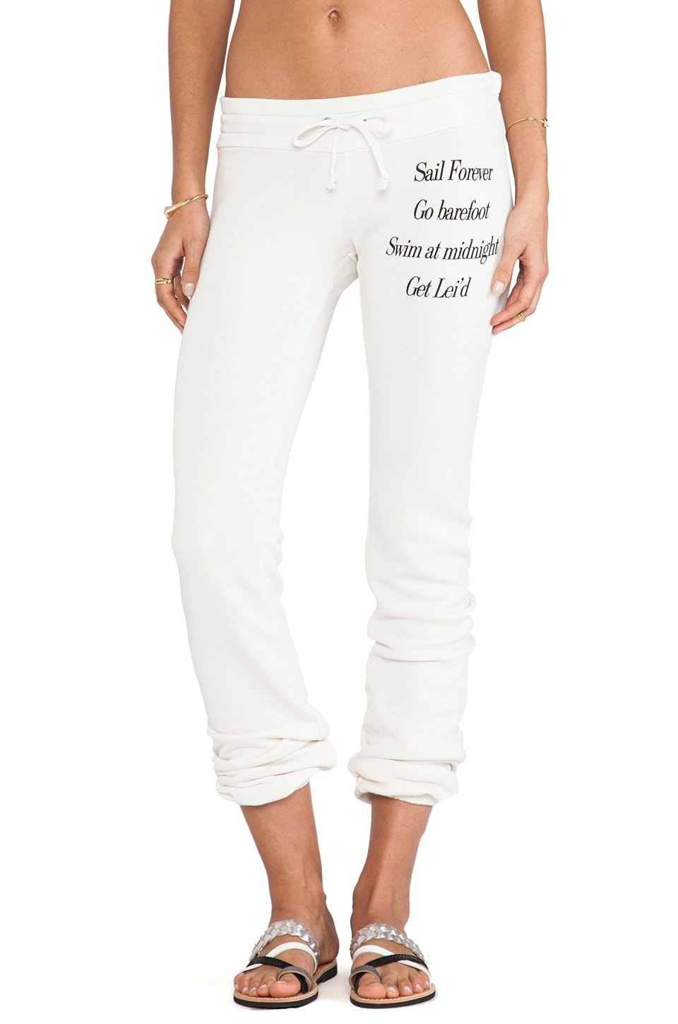 Wildfox Couture Adventure List Malibu Sweatpants in Vintage Lace