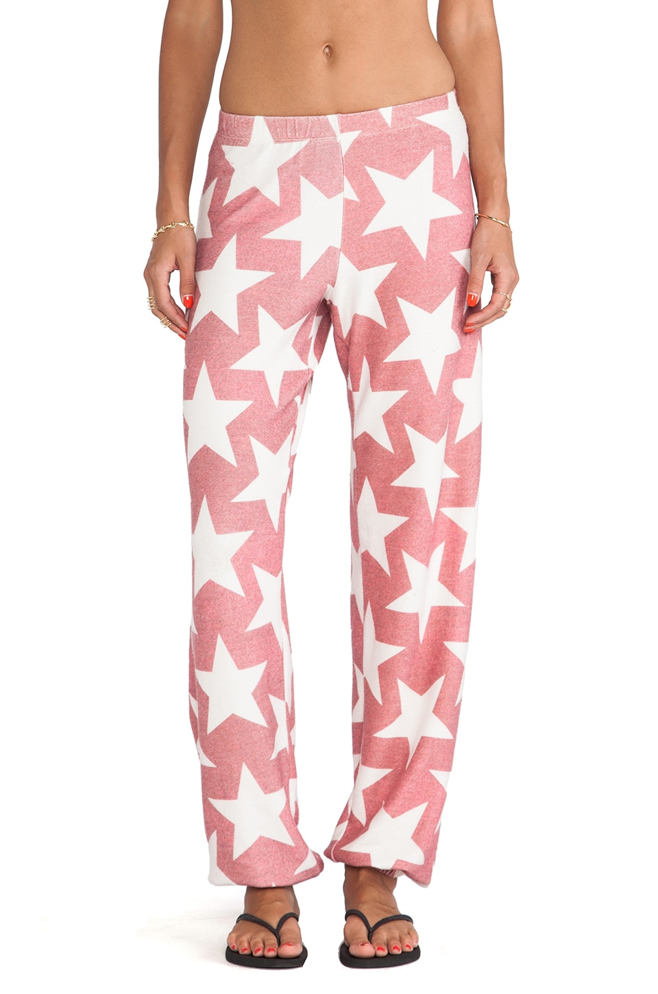 Wildfox Couture Denim Stars Gidget Sweats in Red Multi