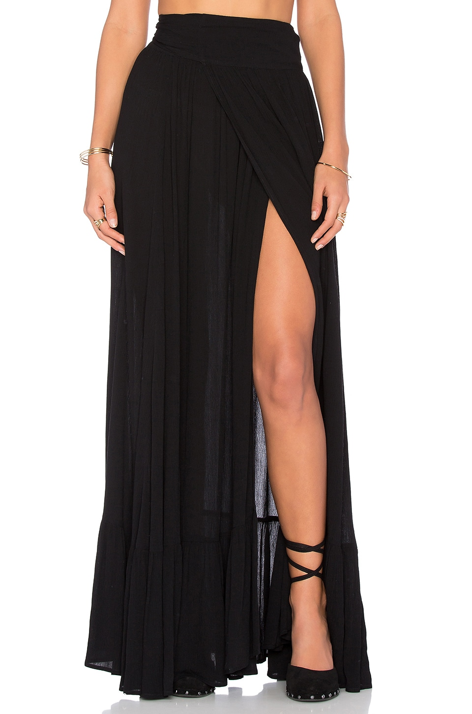 Wildfox Couture Maxi Skirt in Black