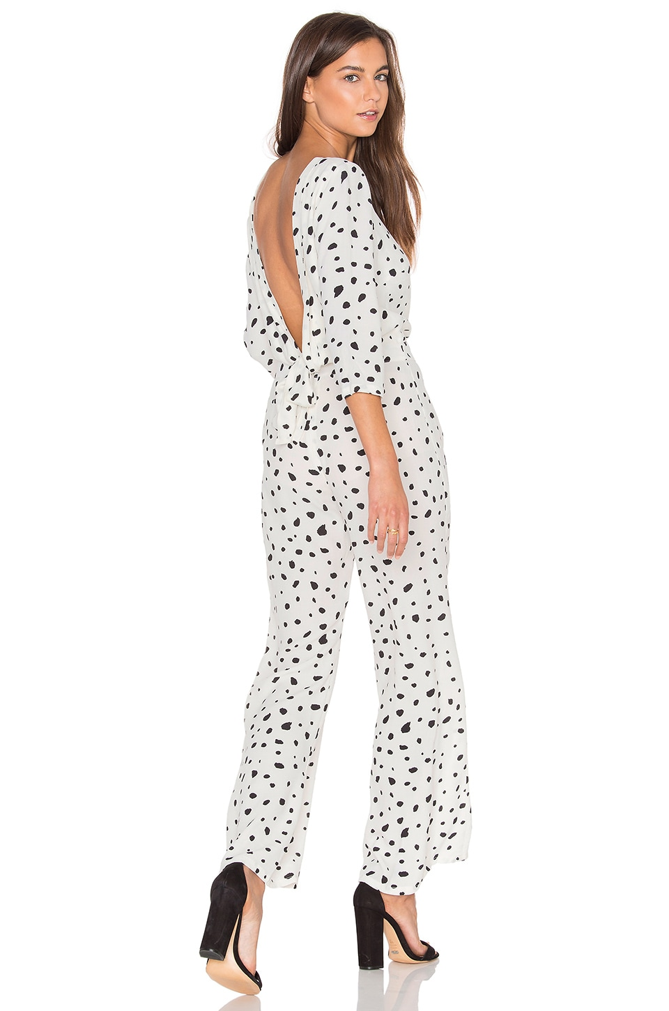 Wildfox Couture Solid Confetti Jumpsuit in Vanilla Latte