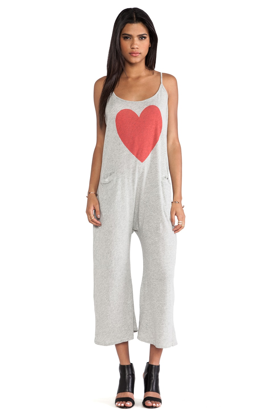 Wildfox Couture Heartland Easy Island Onesie in Vintage White