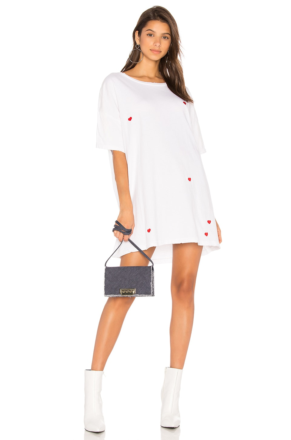Wildfox Couture Scattered Hearts Tee in Clean White