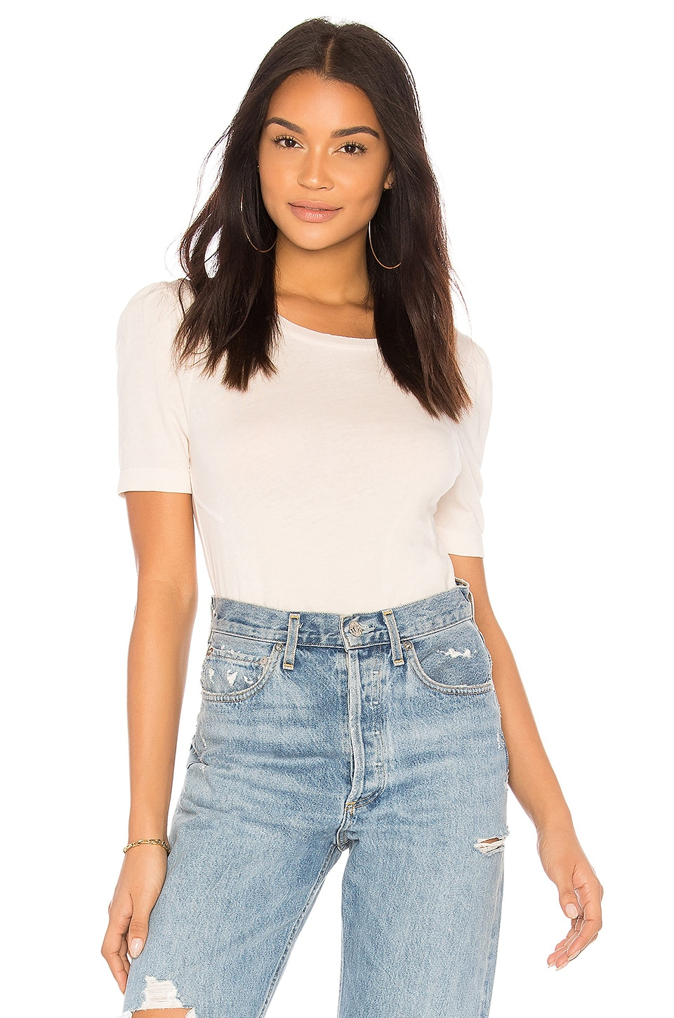 Wildfox Couture Solid Top in Nude Haze