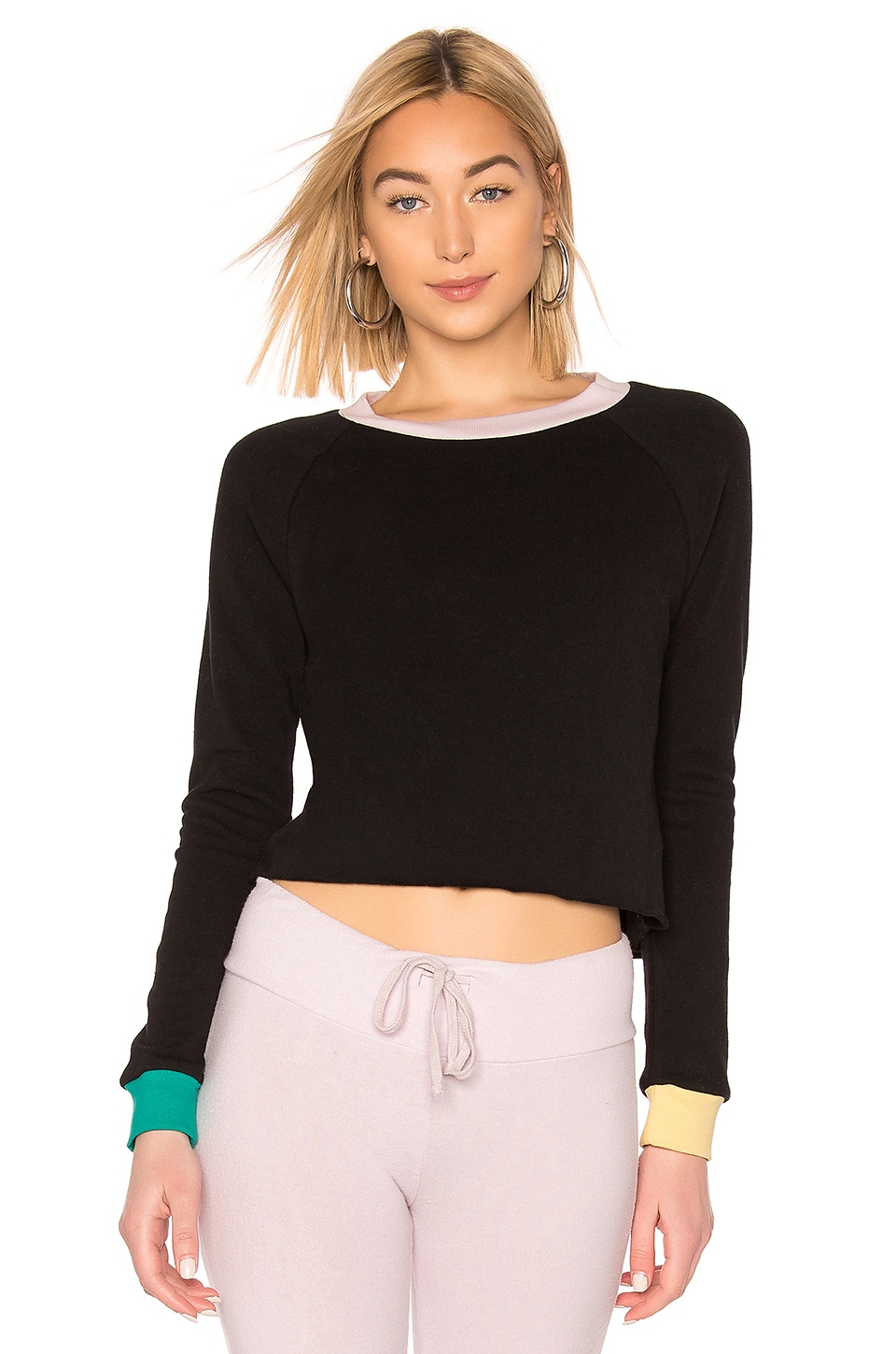 Wildfox Couture Beach House Crop in Clean Black & Multi