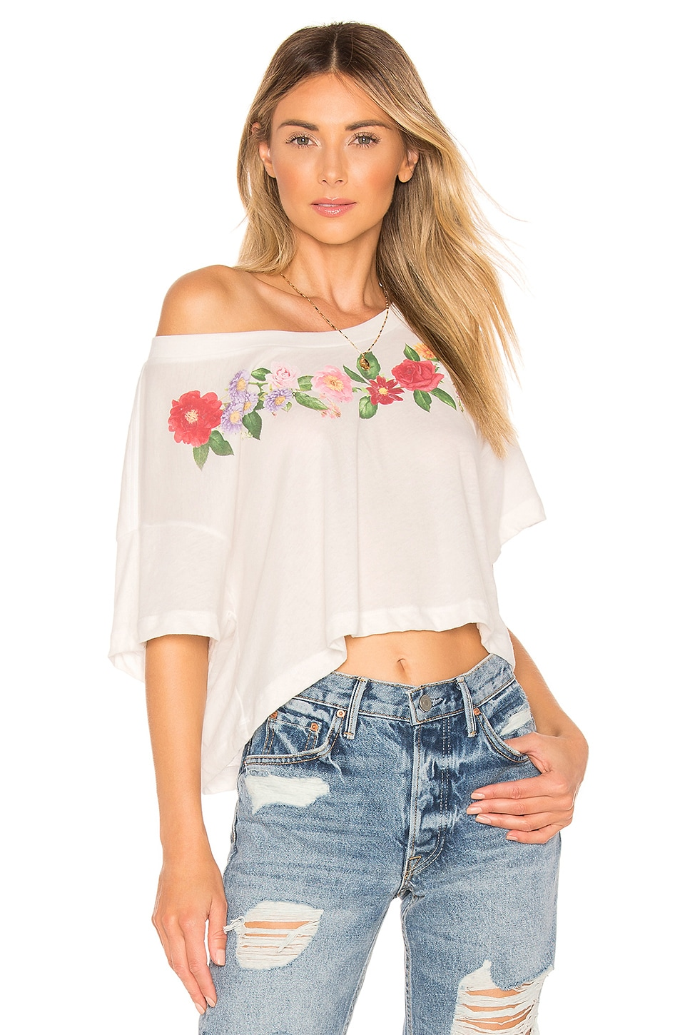 Wildfox Couture Get Lei'd Tee in Vanilla