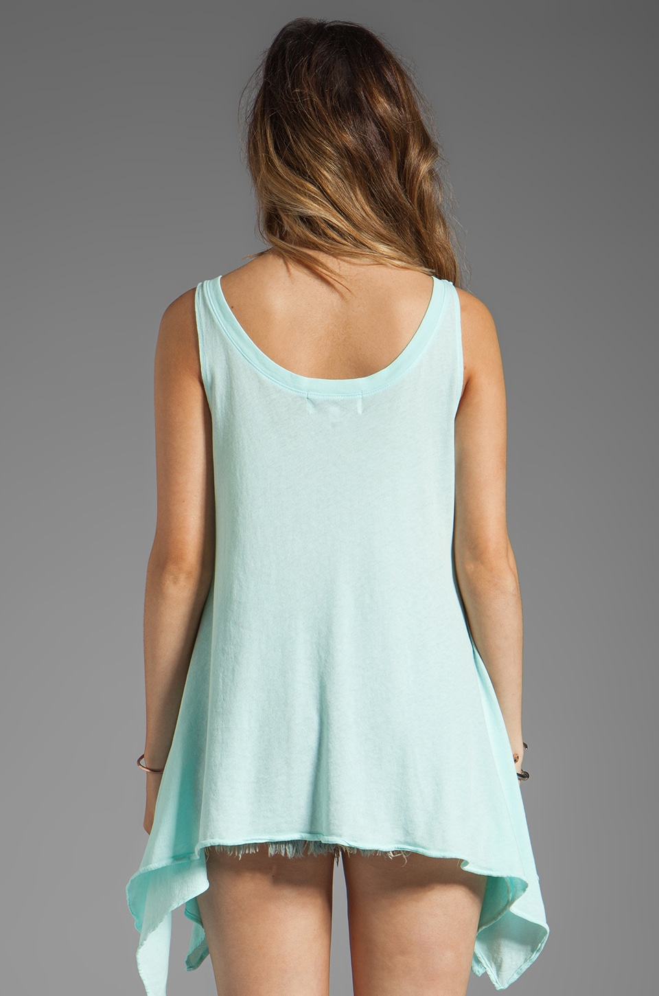 Wildfox Couture Pineapple Dreamer Tank in Bleached Aqua