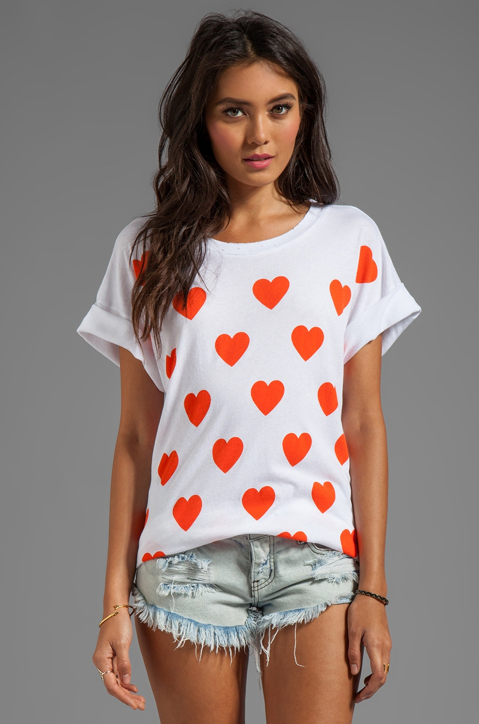 Wildfox Couture Falling in Love Favorite Tee in Clean White