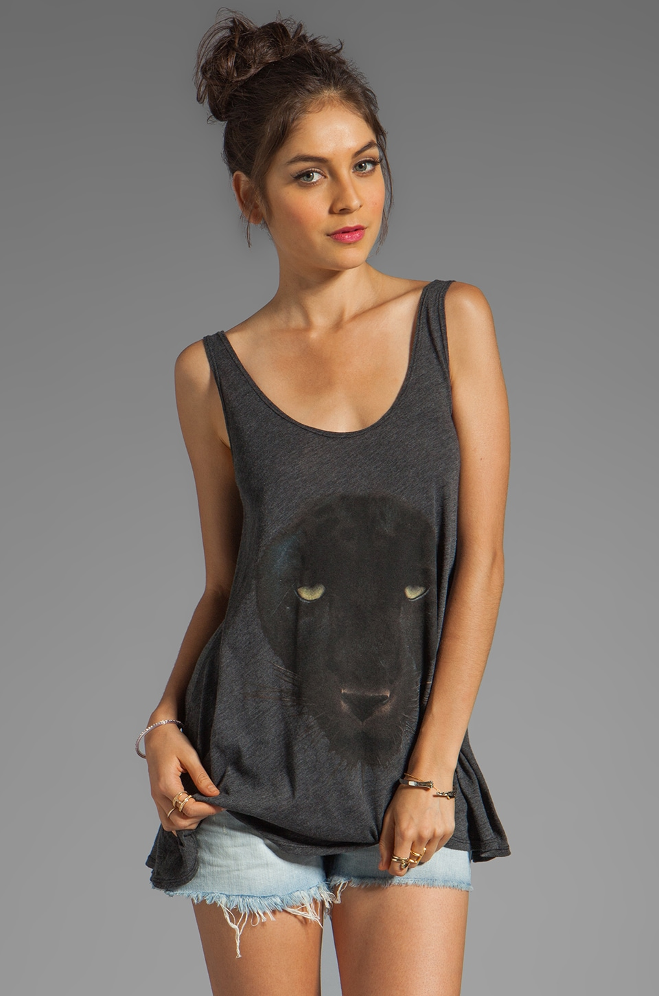 Wildfox Couture Black Panther Indiana Tank in Clean Black