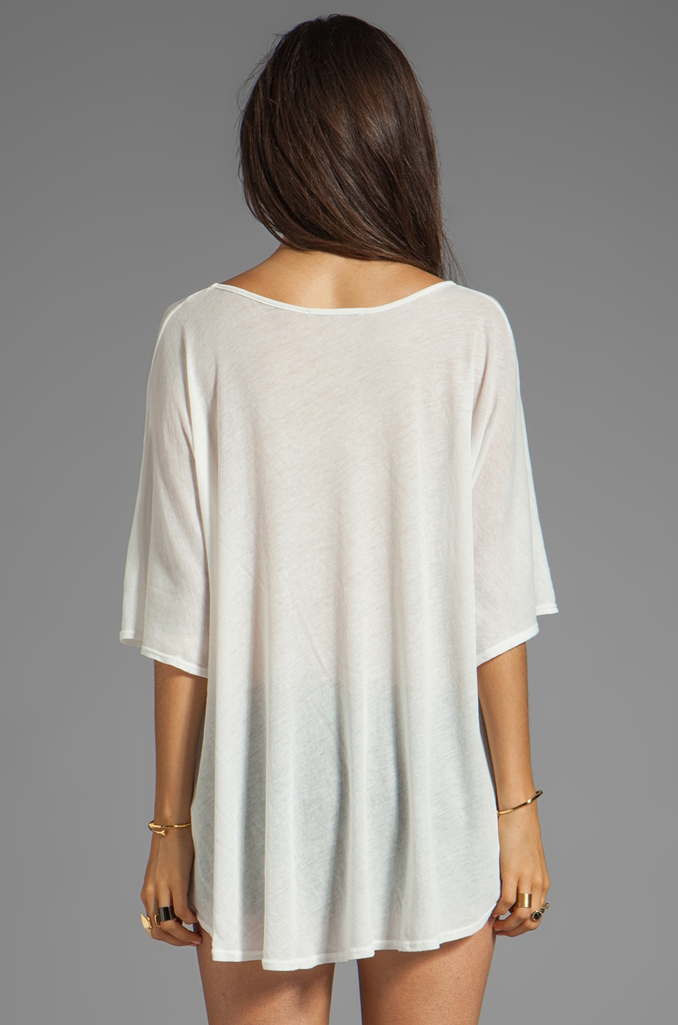 Wildfox Couture No Skinny Dipping Tahiti Tunic in Bright Cloud