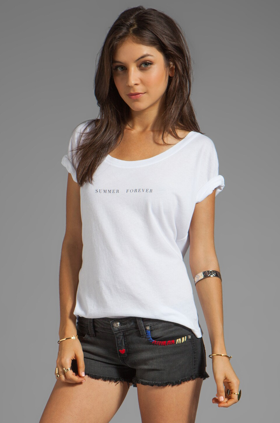 Wildfox Couture Summer Forever Tee in Clean White