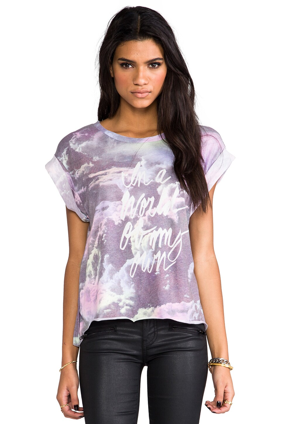 Wildfox Couture My Own World Short Sleeve Tee in Multi