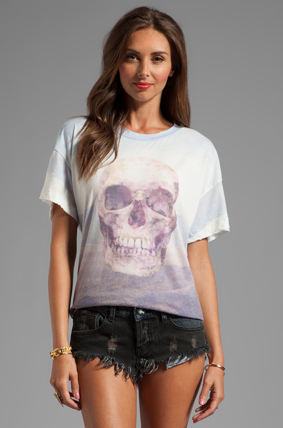 Wildfox Couture Live Like There's No Tomorrow Favorite Tee in Multi