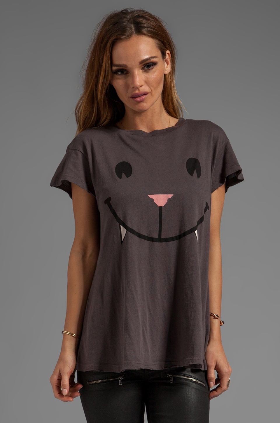 Wildfox Couture Naughty Cat Face Desert Crew Neck in NYC