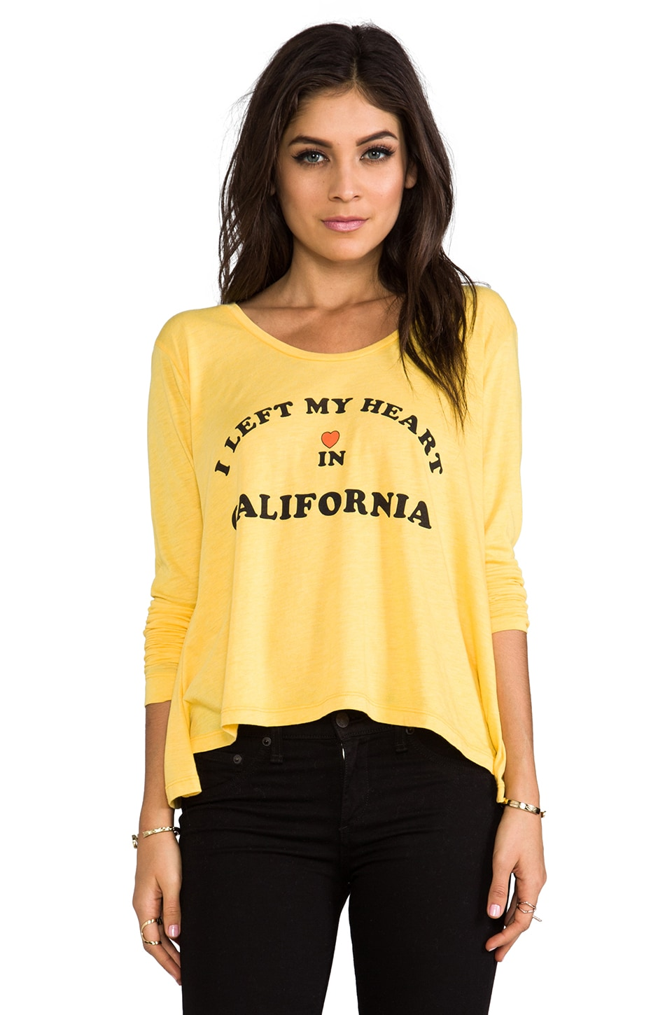 Wildfox Couture My Heart's in California Lazy Weekend Long Sleeve in Sunflower