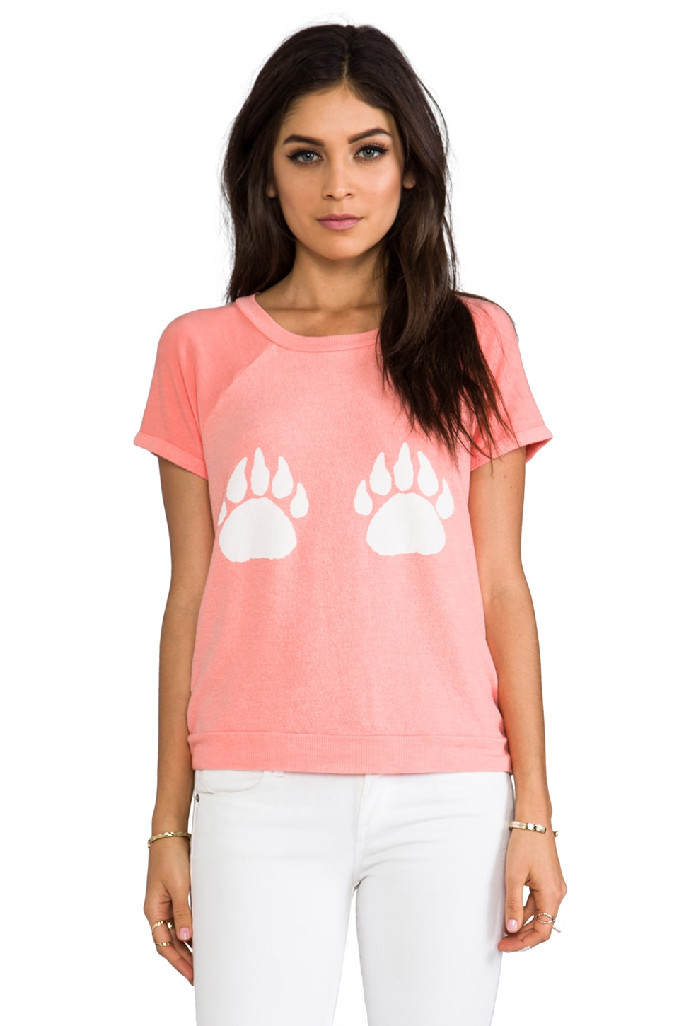 Wildfox Couture Paws Camden Top in 70's Lipstick