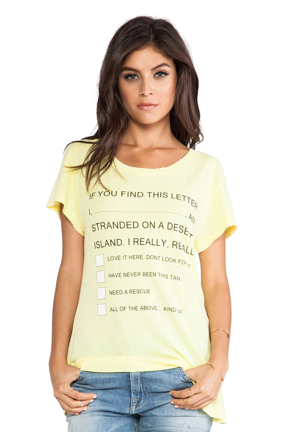 Wildfox Couture Island Message Hippie Crew in Sunlight