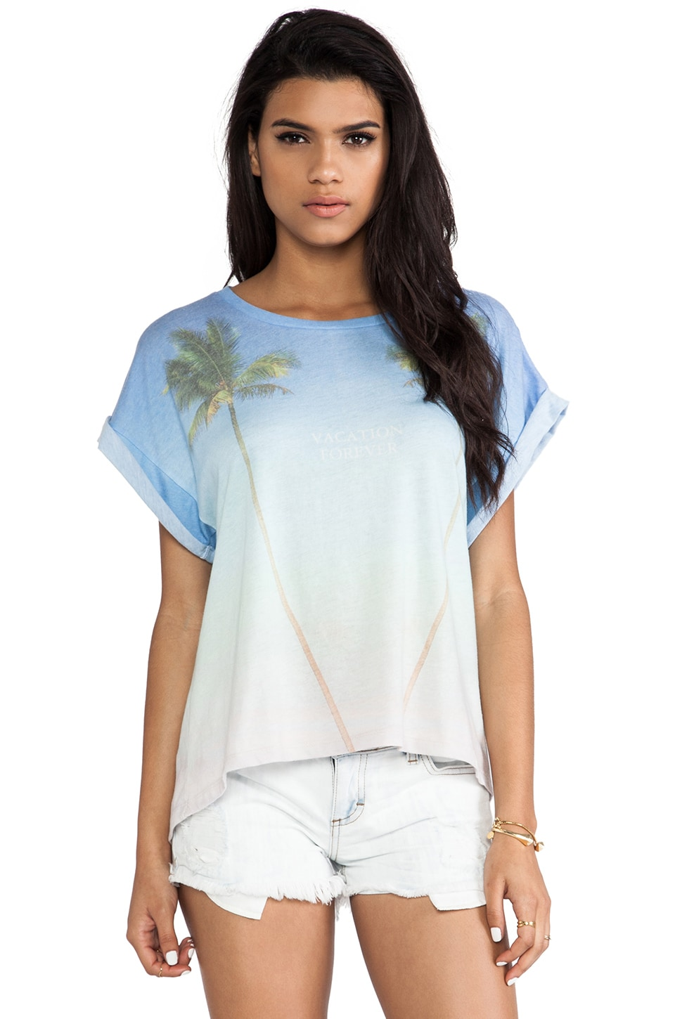 Wildfox Couture Vacation Forever Boy Tee in Multi