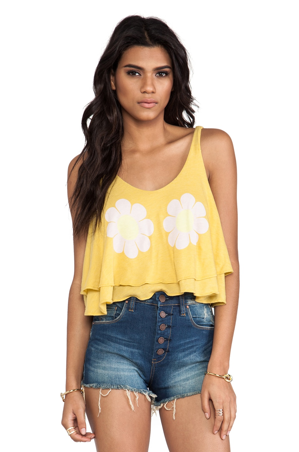 Wildfox Couture Flower Girl Tank in Dandelion