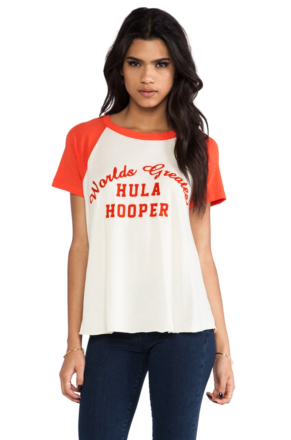 Wildfox Couture Hula Hooper Retro Raglan in Lifeguard & Vintage Lace