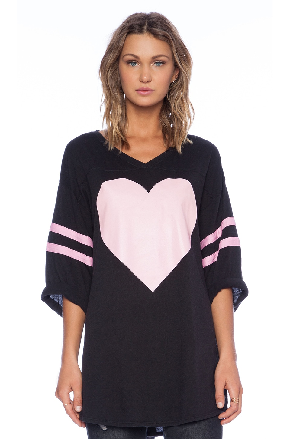 Wildfox Couture Barefoot Heart Tee in Clean Black