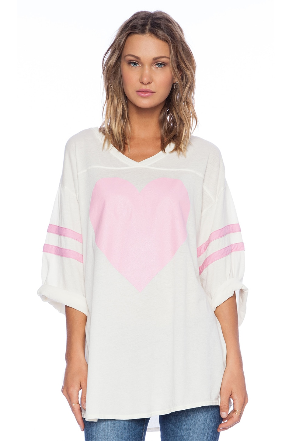 Wildfox Couture Barefoot Heart Tee in Vintage Lace