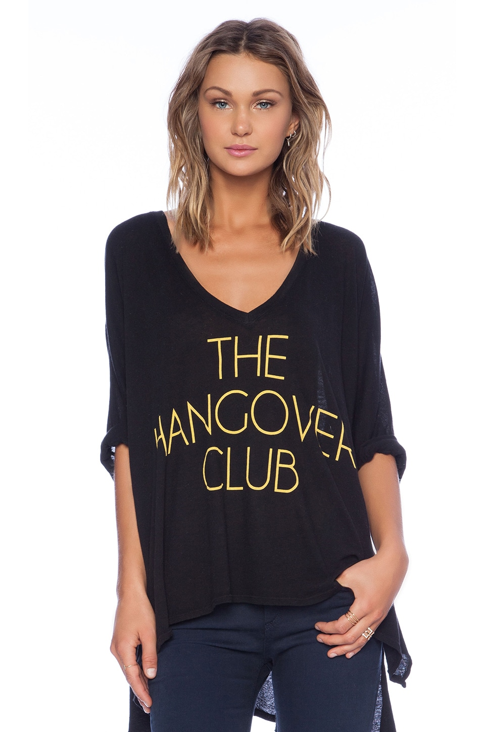 826afe678b0 Wildfox Couture Hangover Club Tee in Clean Black