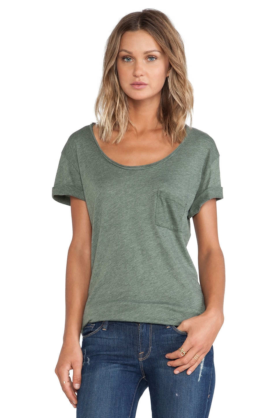 Wildfox Couture Essential Crew in Pine