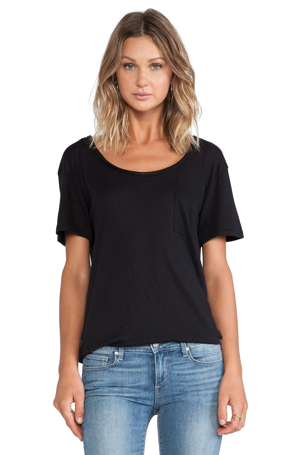 Wildfox Couture Essential Crew in Jet Black