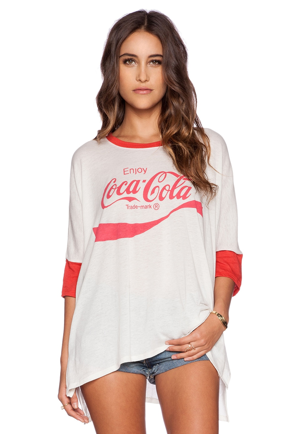 Wildfox Couture Cocoa Cola Tee in Vintage Lace