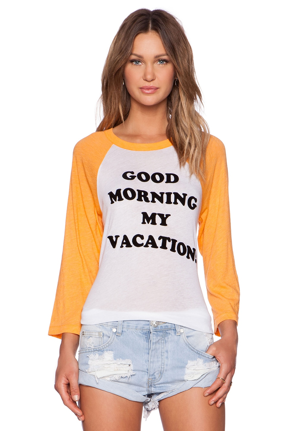 Wildfox Couture Good Morning Vacation Tee in Clean White