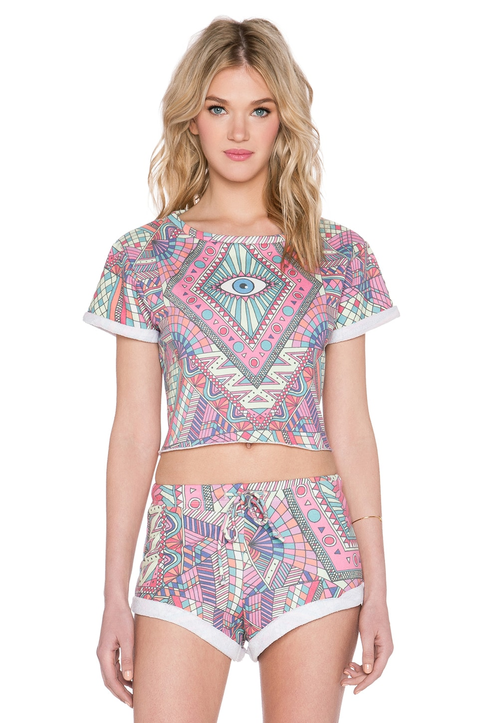 Wildfox Couture Third Eye Venice Crop Top in Multi