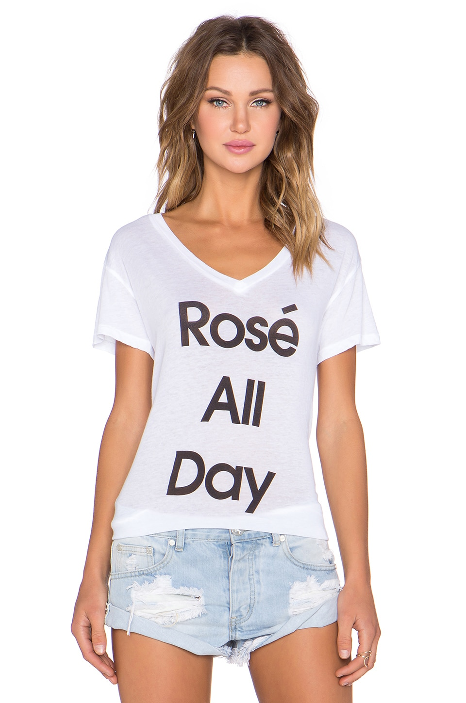 Wildfox Couture Rose All Day Tee in Clean White