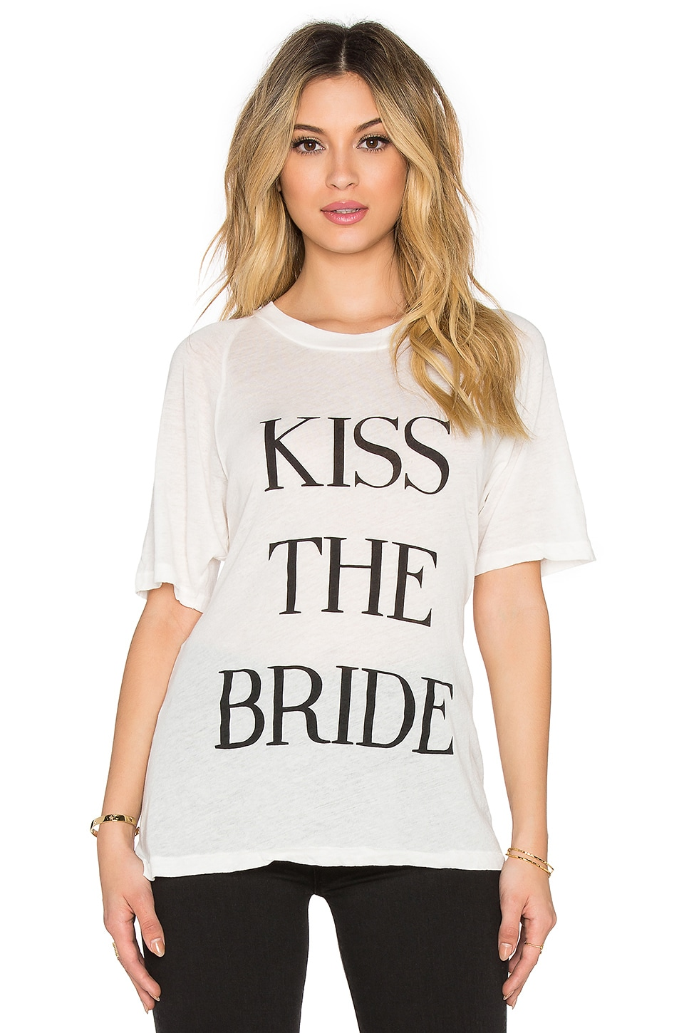 Wildfox Couture Kiss The Bride Tee in Vintage Lace