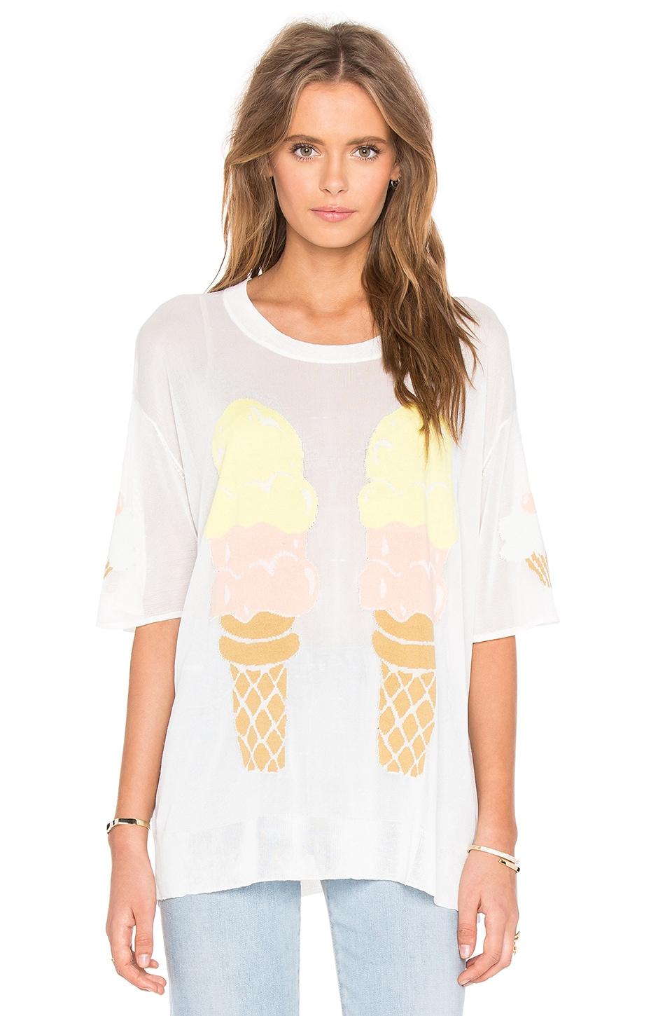 Wildfox Couture Eat Me Tee in Pearl