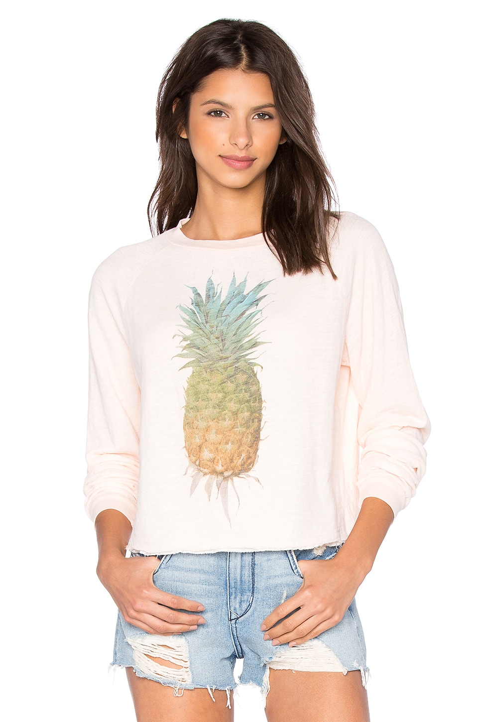 Wildfox Couture Rainbow Pineapple Tee in Chapstick