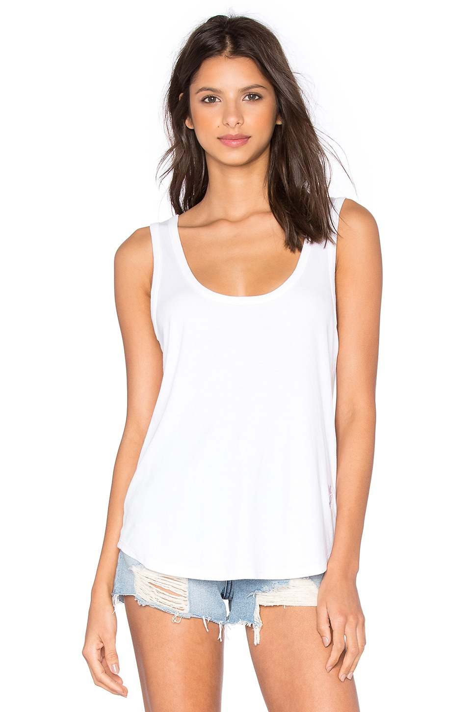 Wildfox Couture Basics Tank in Clean White