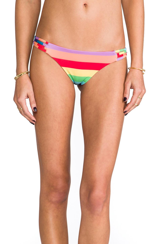 Wildfox Couture Reve Criss-Cross Brazilian in 70's Rainbow