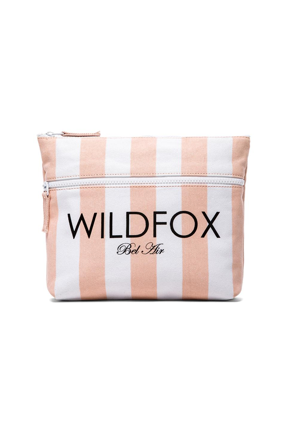 Wildfox Couture Bel Air Bikini Bag in Pink & White Stripes