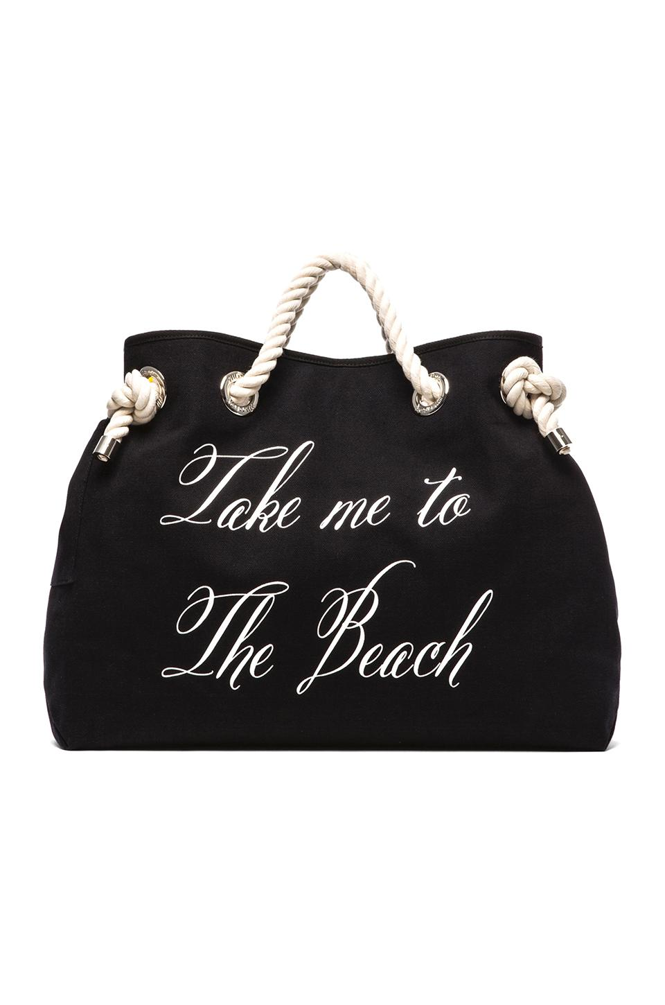 Wildfox Couture Take me to The Beach/Bel Air Reversible Tote in Yellow Stripe & Black