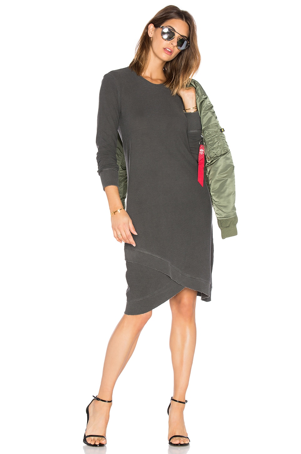 Cross Hem Long Sleeve Dress by Wilt