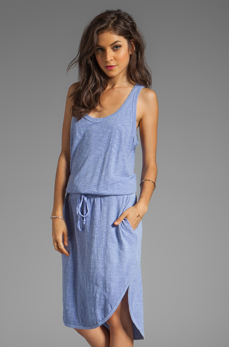 Wilt Drawstring Tank Dress in Periwinkle