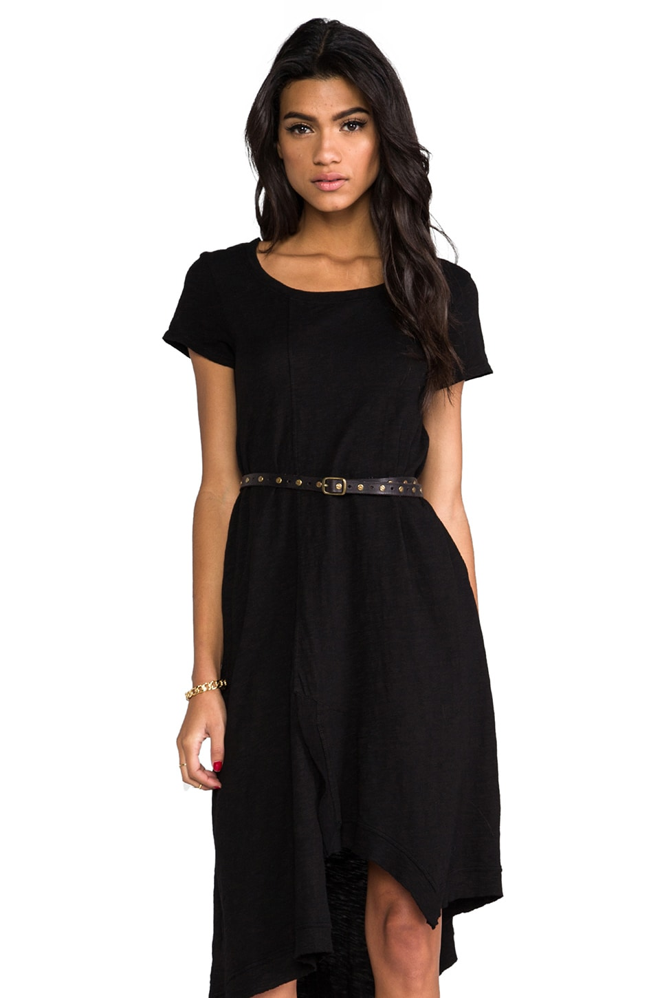 Wilt Uneven Hem Dress in Standard Black