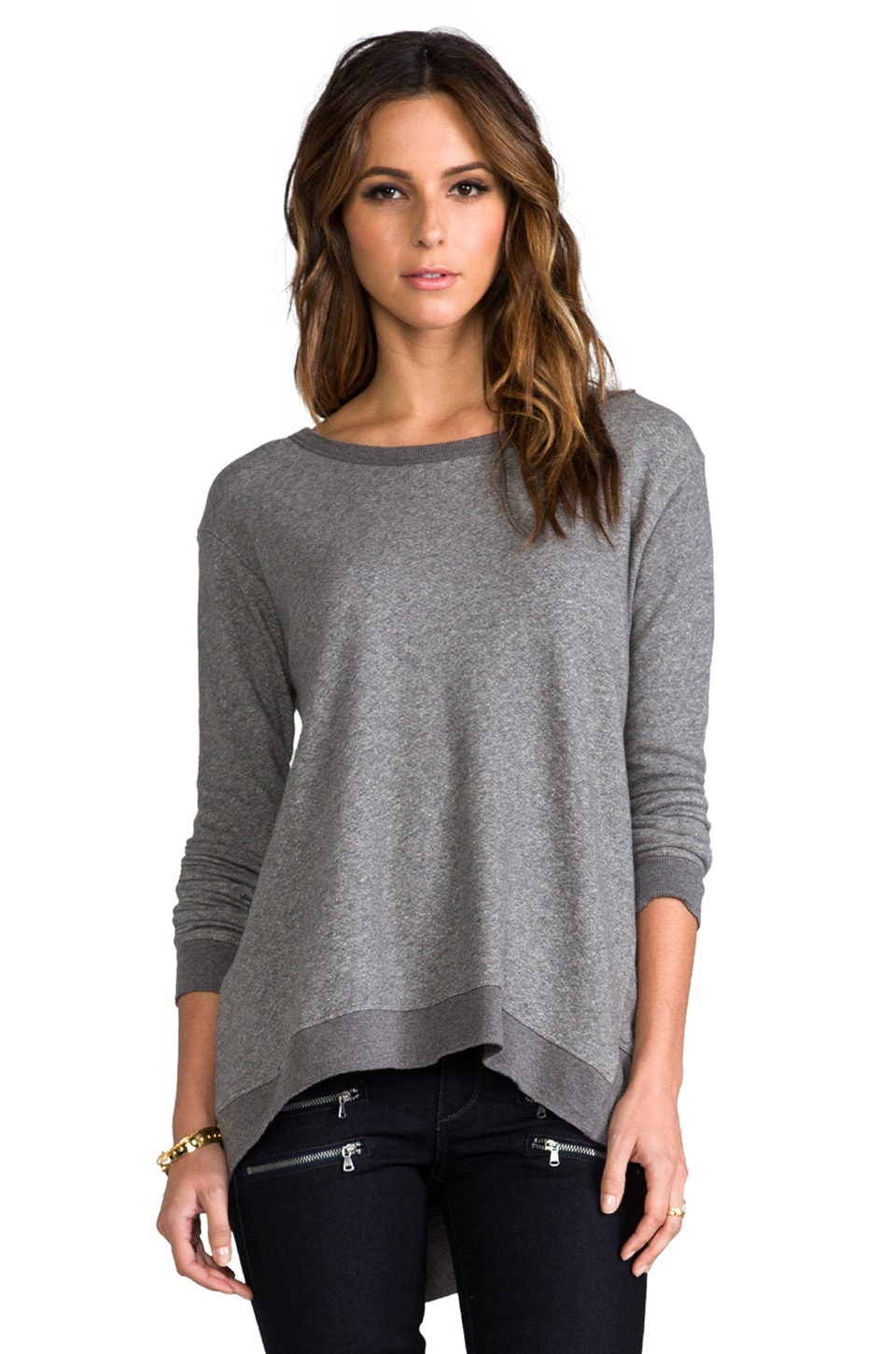 Wilt Big Backslant Sweatshirt in Charcoal