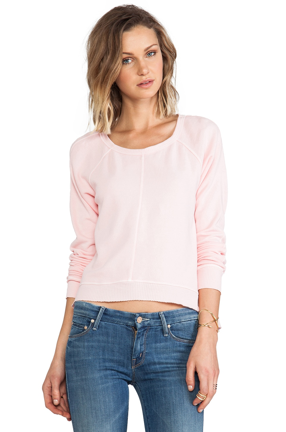 Wilt Crop Sweatshirt in Shell