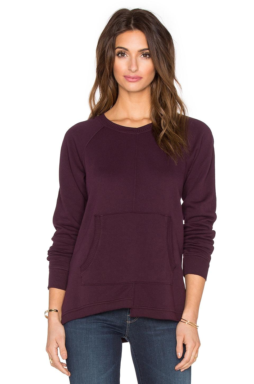 Wilt French Terry Easy Pocket Sweatshirt in Maroon