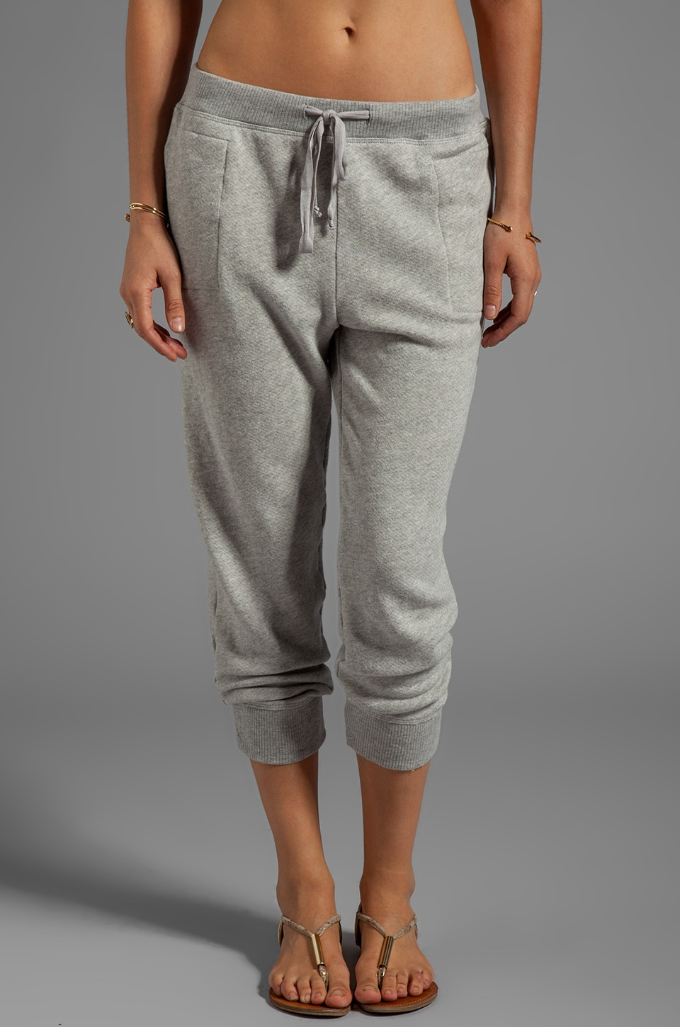 Wilt Vintage French Terry Slouchy Sweatpant in Grey Heather