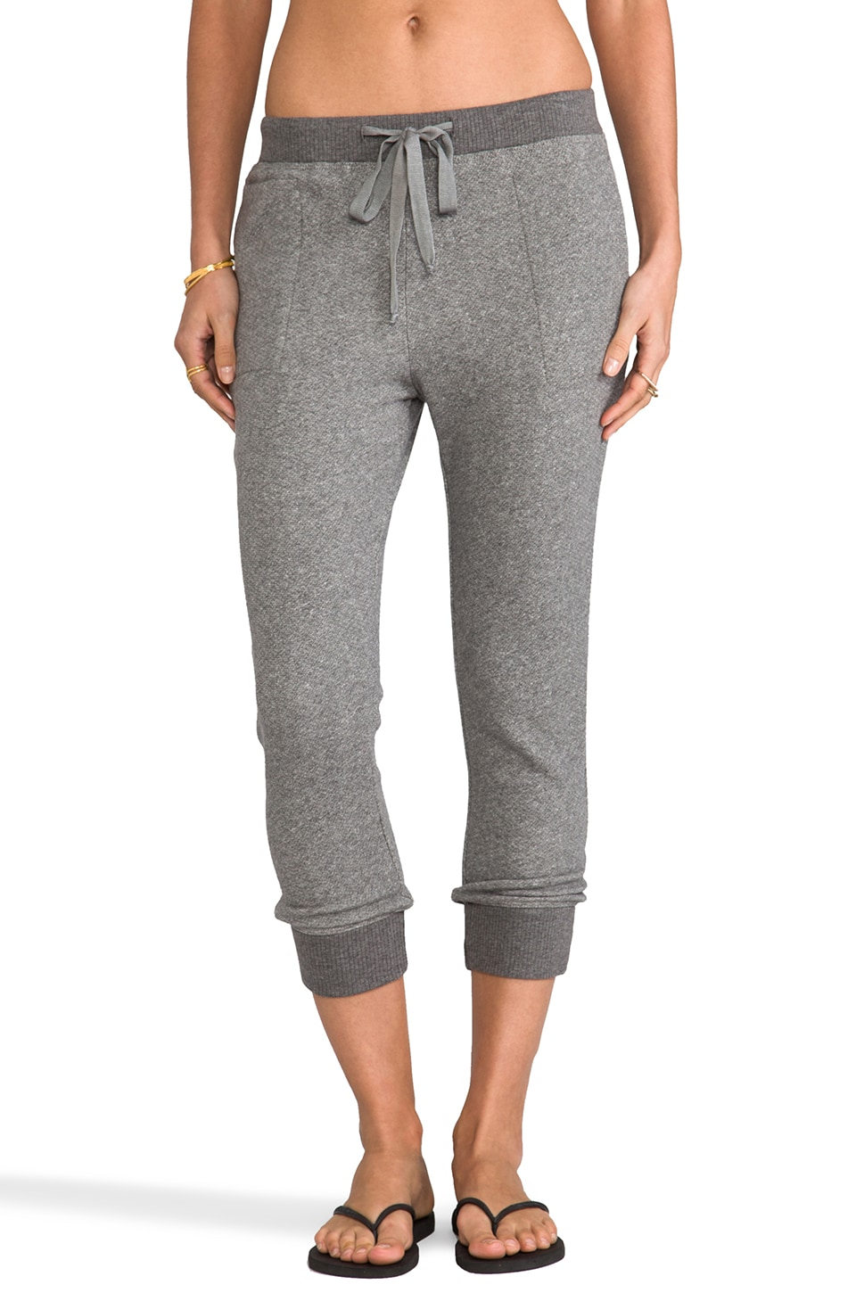 Wilt French Terry Slouchy Sweatpant in Charcoal