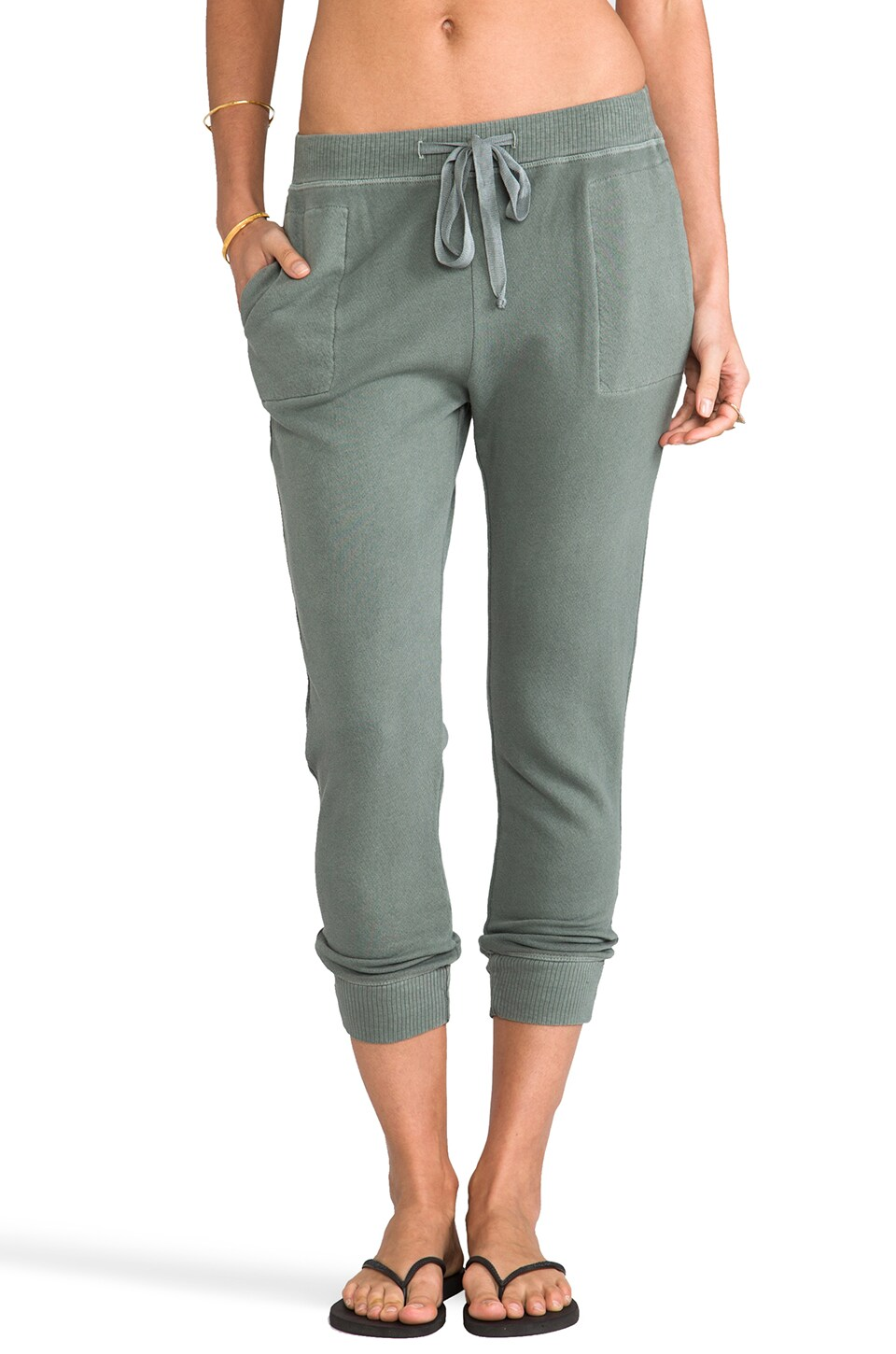 Wilt French Terry Slouchy Sweatpant in Clover