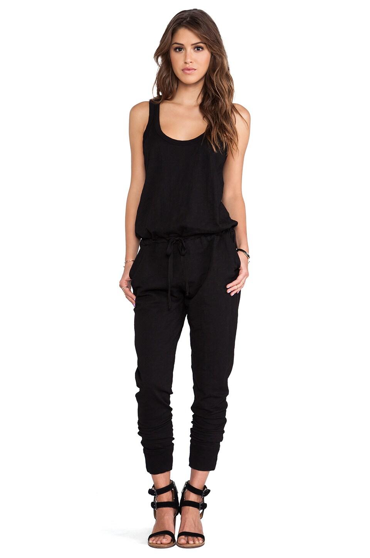 Wilt Slub Tank Jumpsuit in Black