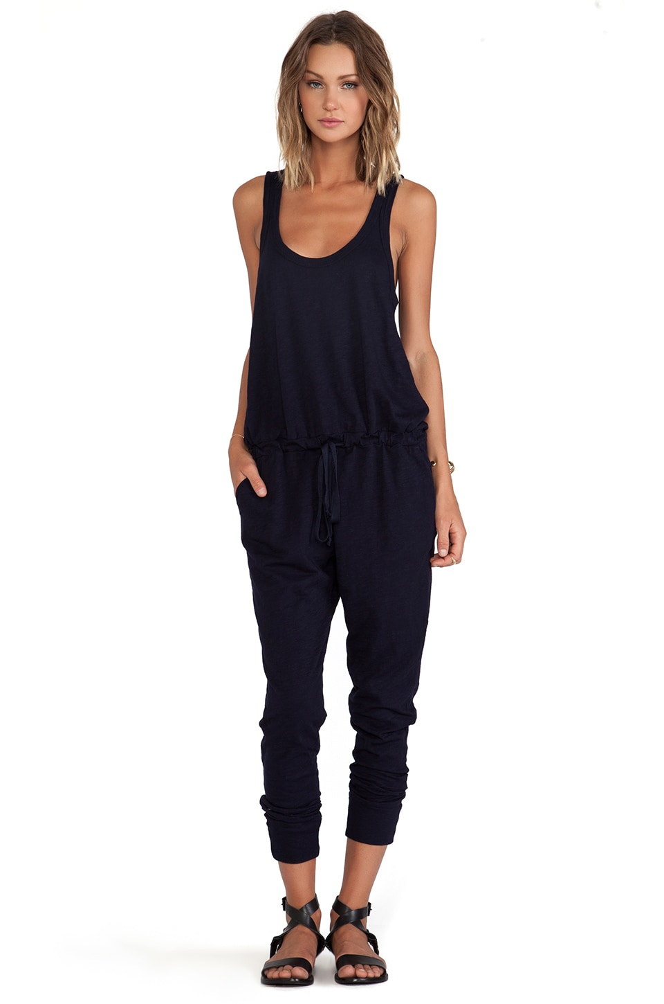 Wilt Slub Tank Jumpsuit in Blue Night